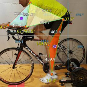 Posizionamento al triathleta Rausei Giuseppe in preparazione al mezzo ironman TRINACRIAHALF